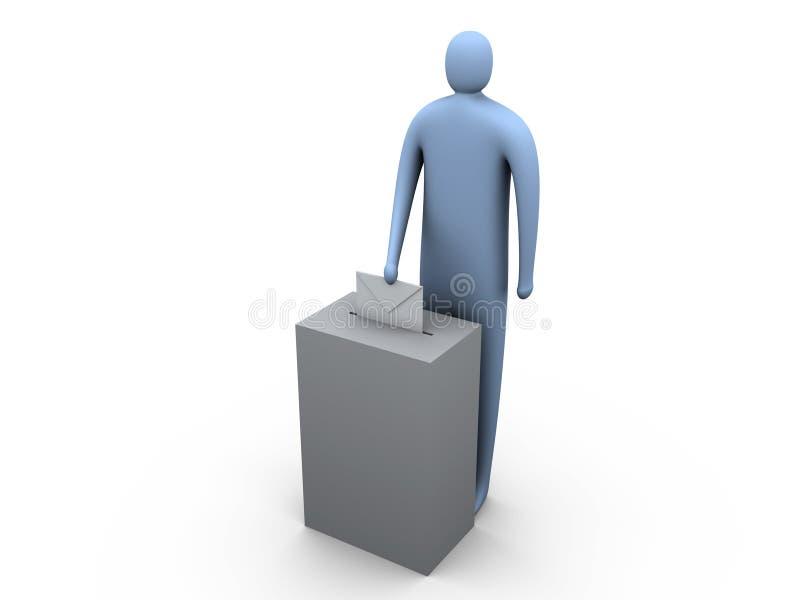 #2 di voto illustrazione di stock
