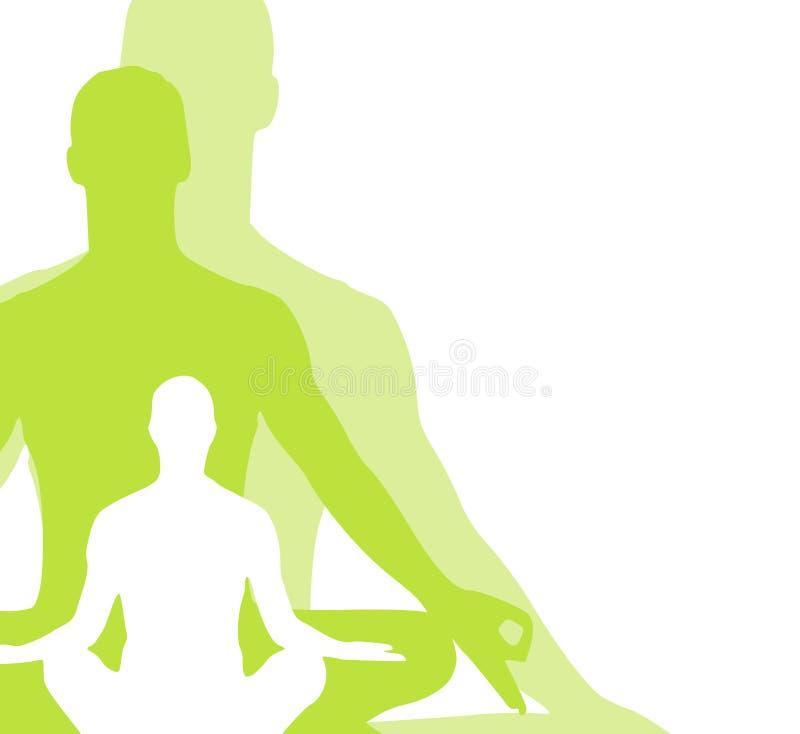 2 diagram placerar sittande yoga royaltyfri illustrationer