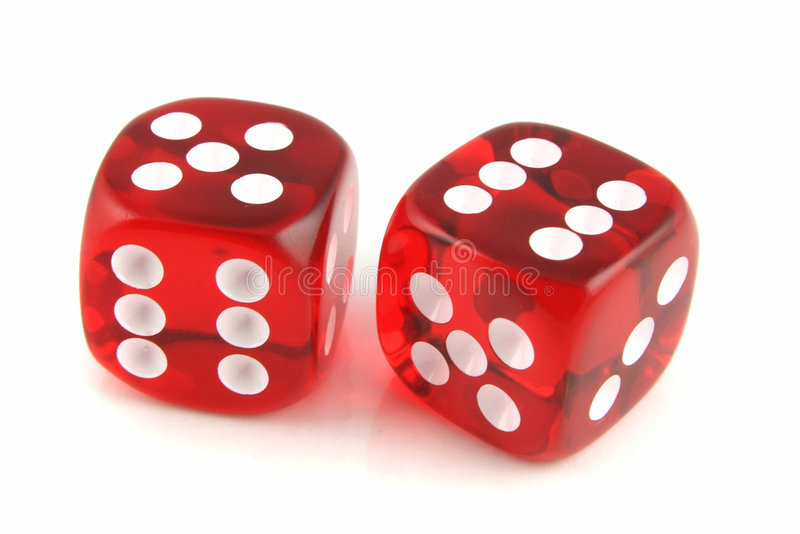 2 Dice stock image
