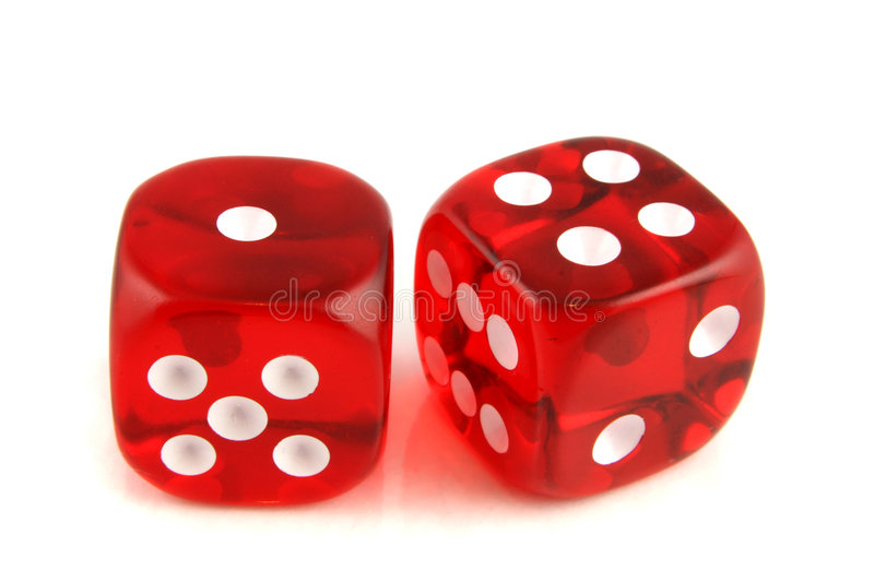 2 dice showing 1 and 4 royalty free stock photo