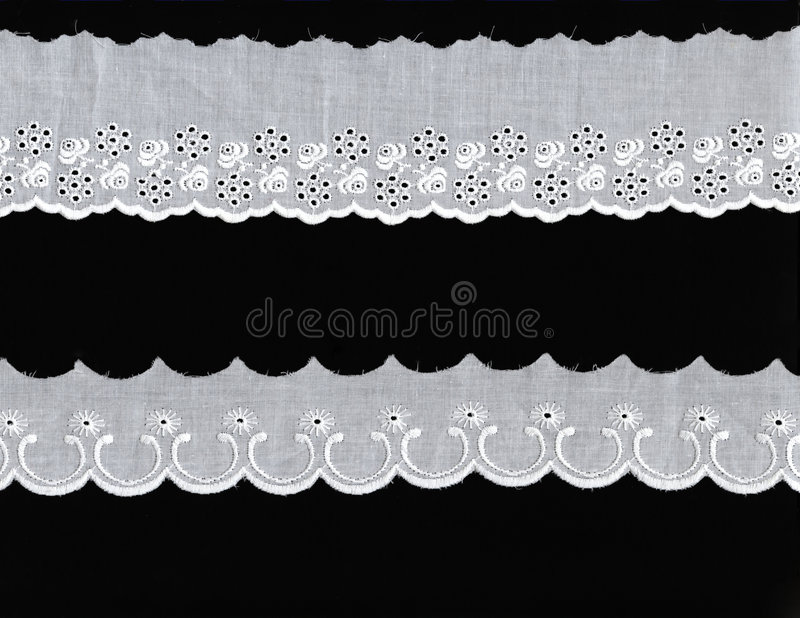 Download 2 different lace borders stock photo. Image of border - 3994146