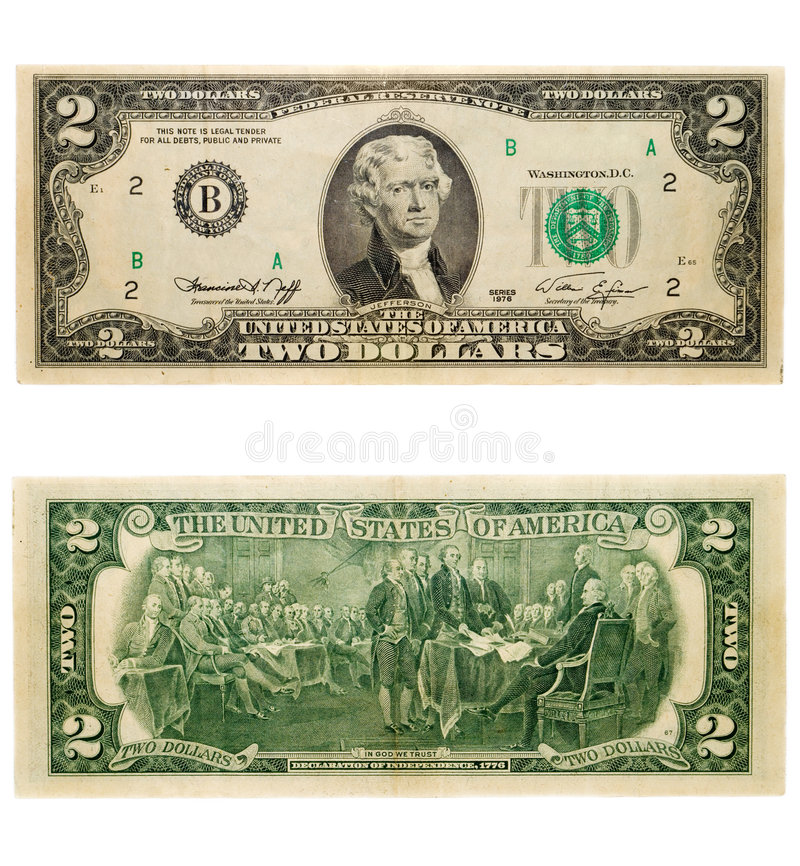 2 dollars stock photos