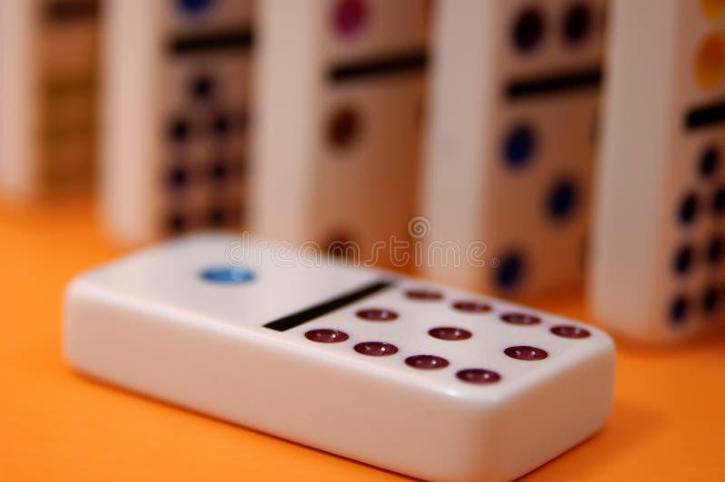 2 domino arkivfoto