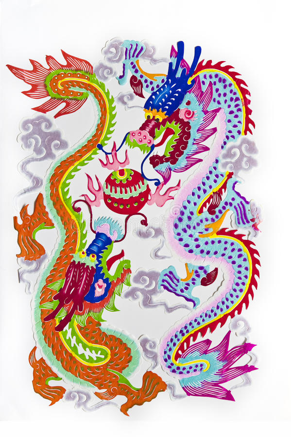 Free 2 Dragon Playing With A Pearl Stock Photography - 11719142