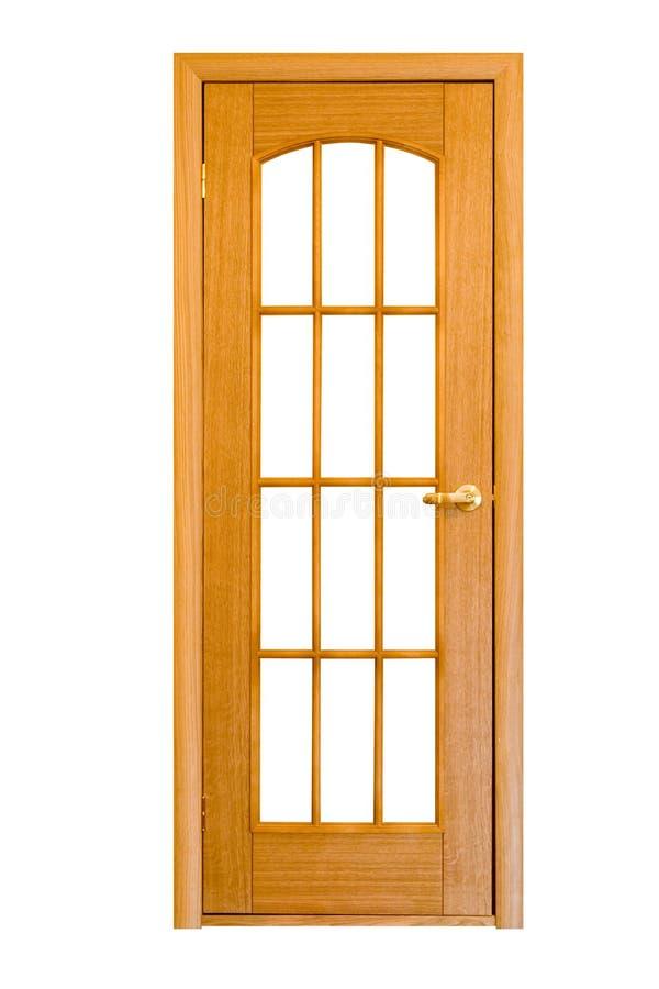 2 drewniane drzwi. fotografia stock