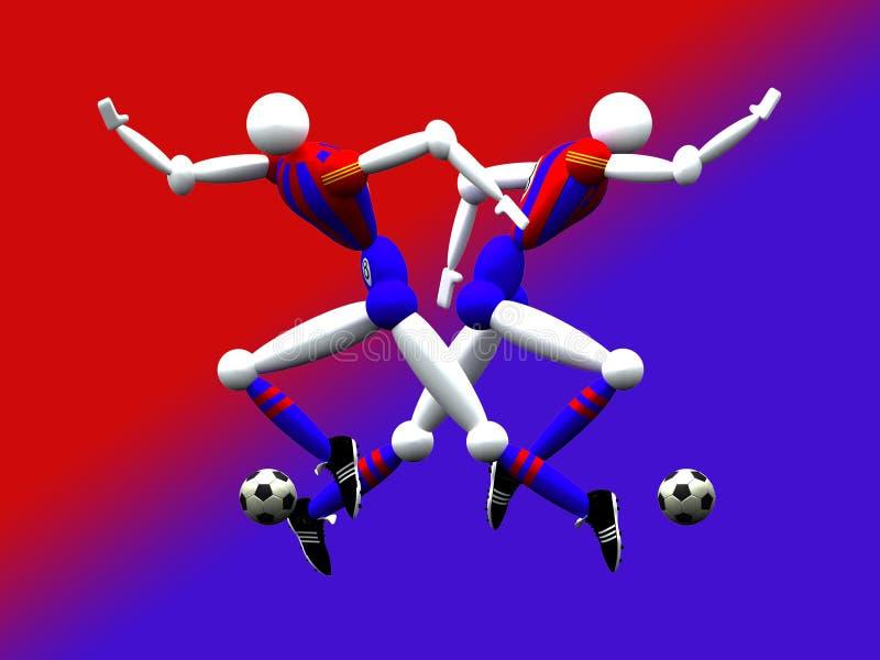 2 drużyny piłkarskiej obj. ilustracja wektor
