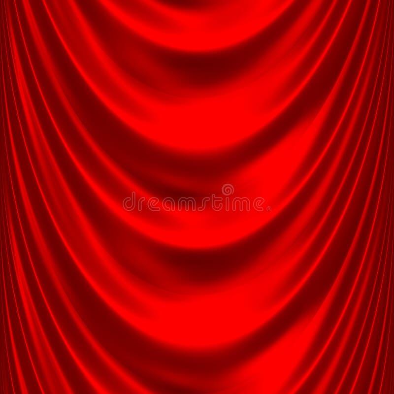 2 duży drapują czerwonego atłas ilustracja wektor