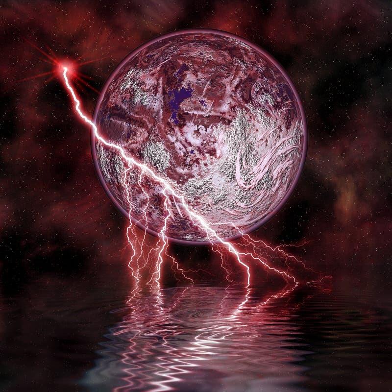 2 dziwna planeta ilustracja wektor