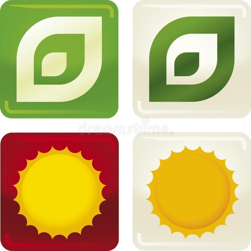 2 ekologii ikony royalty ilustracja