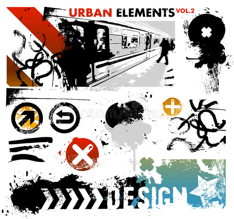 2 elementów grafika miastowa ilustracji