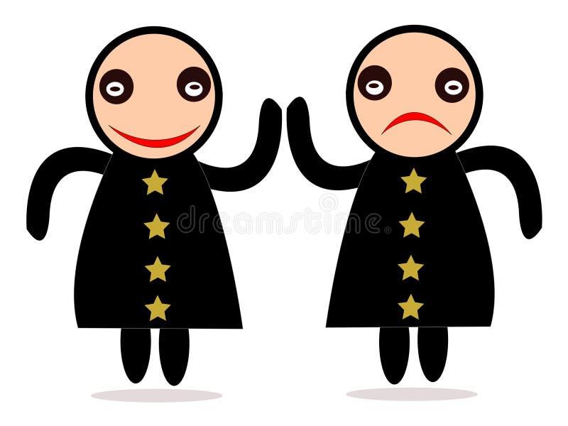 2 emoticons ilustracja wektor