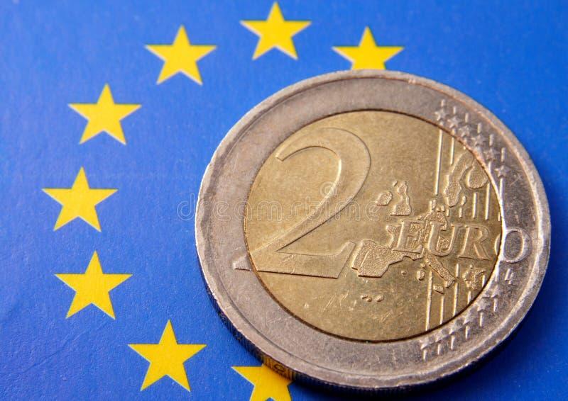 2 euro fotografia stock libera da diritti