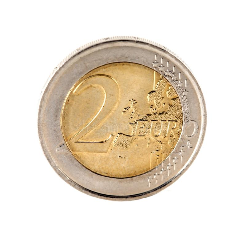 Download A 2 Euro coin stock image. Image of financial, value - 22464147