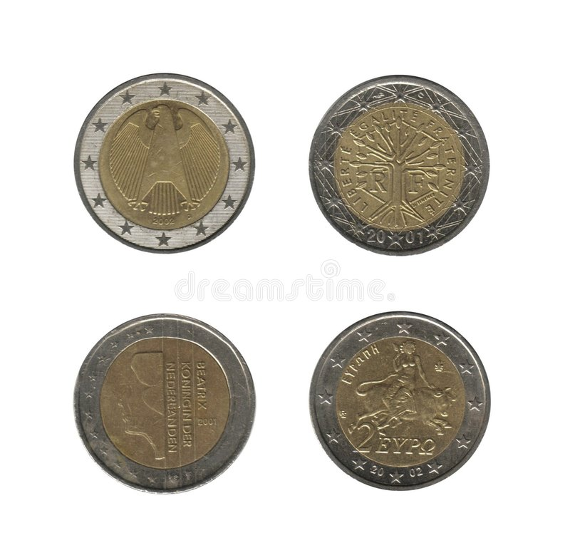 Free 2 Euro Coins, 4 Nations Stock Images - 8612894