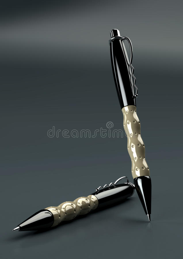 Download 2 executive style pens stock illustration. Illustration of banking - 10057729