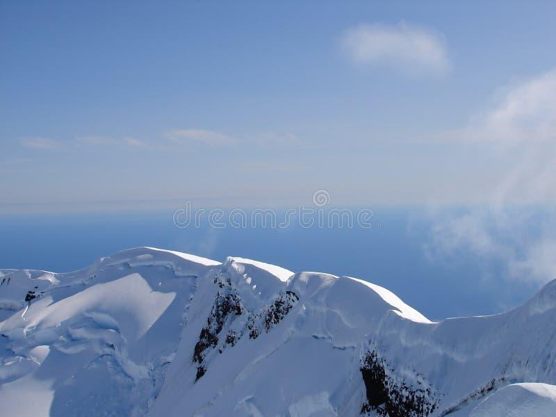 2 för kraterkant M för 277 beerenberg vulkan arkivbilder