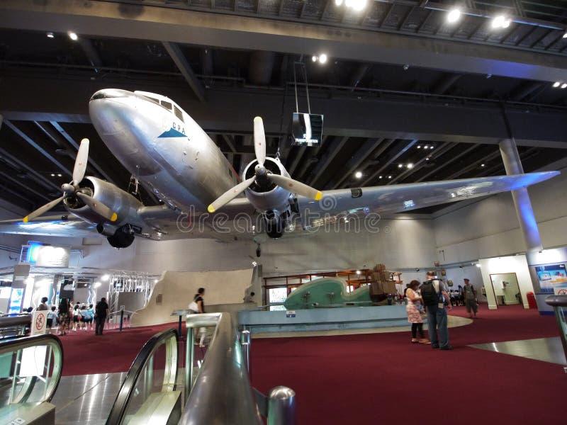 2/F exposição salão no museu de ciência de Hong Kong fotos de stock