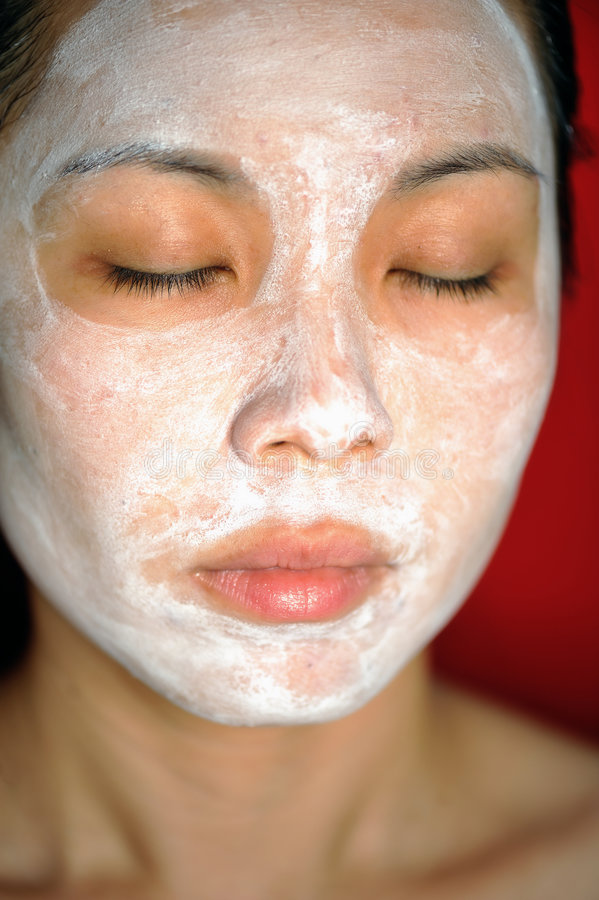 2 facial theraphy obrazy stock