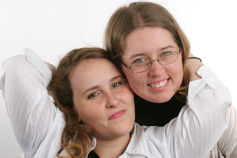 2 fajną siostrę obraz royalty free