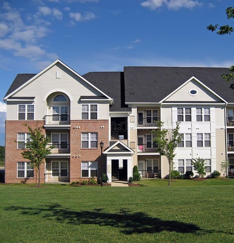 2 fasada budynków mieszkalnych zdjęcie stock