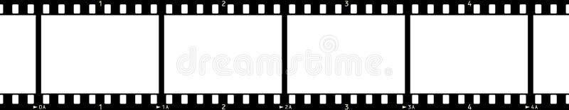 2 filmowej x4 rama royalty ilustracja