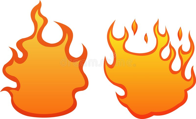 2 fire flames stock illustration