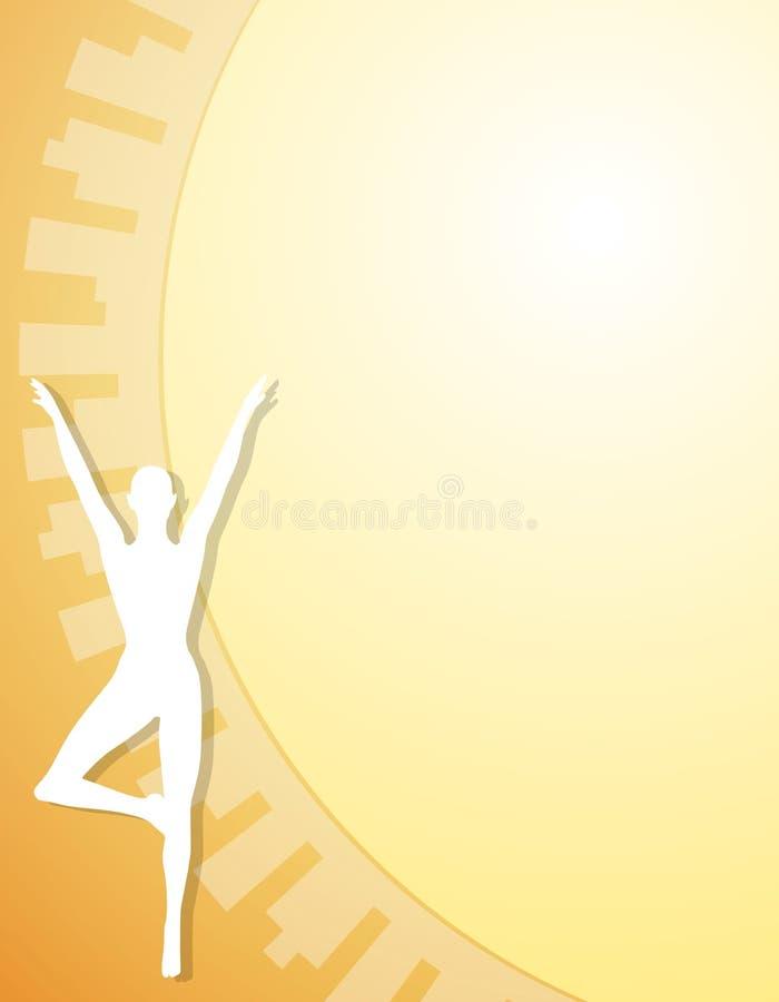 2 fizycznej postaci tła fitness jogi ilustracja wektor