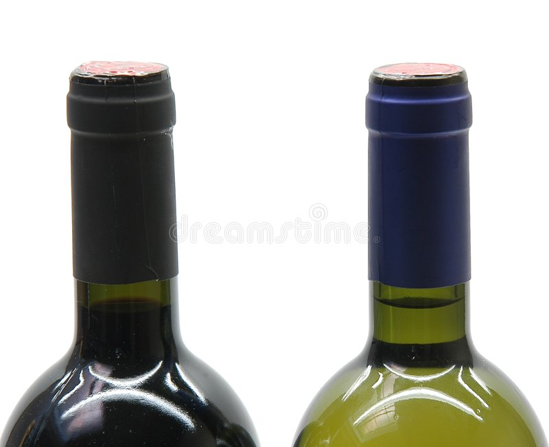 2 Flaschen Wein Lizenzfreies Stockbild