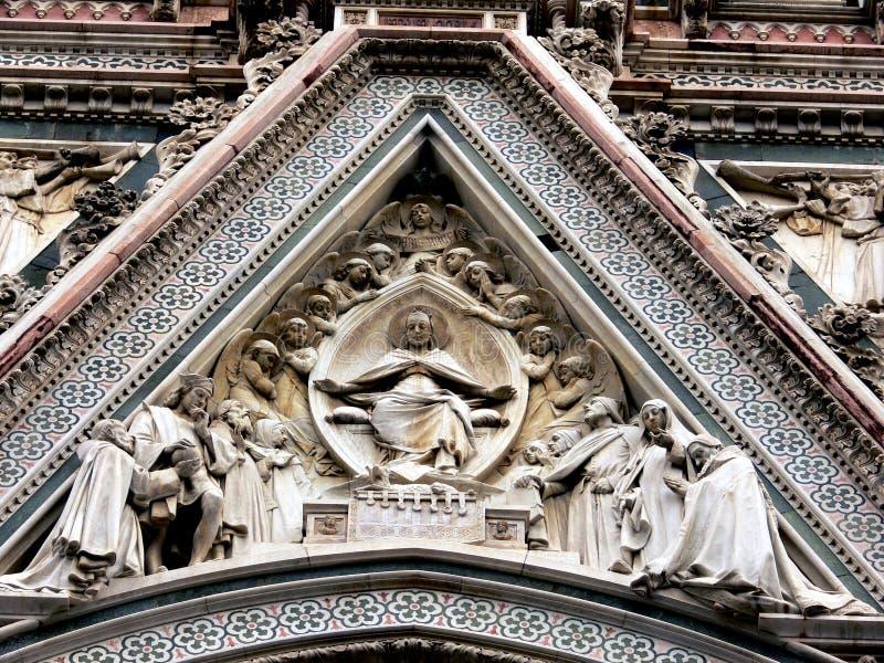 2 Florence katedralny szczegół zdjęcie royalty free