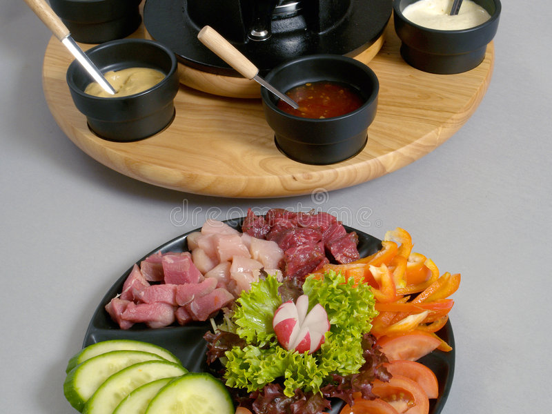 2 fondue zdjęcia royalty free