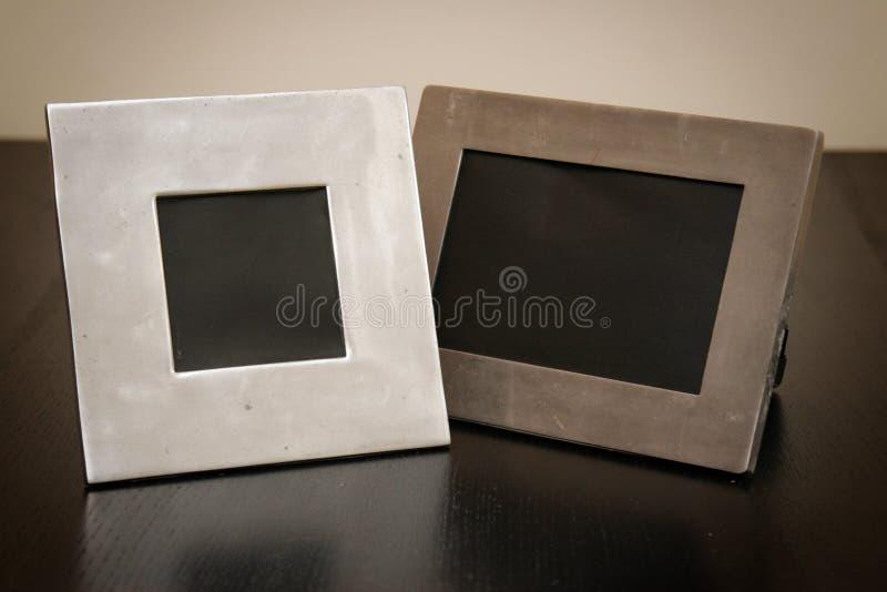 2 frames de retrato vazios fotos de stock royalty free