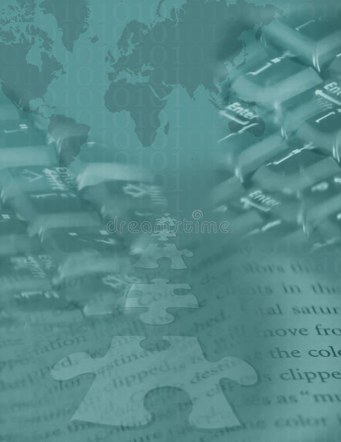 2 globalnej cyfrowa układanki ilustracja wektor