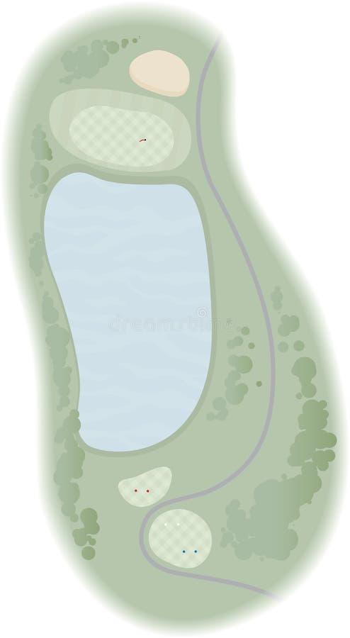 2 golfowa dziura ilustracja wektor