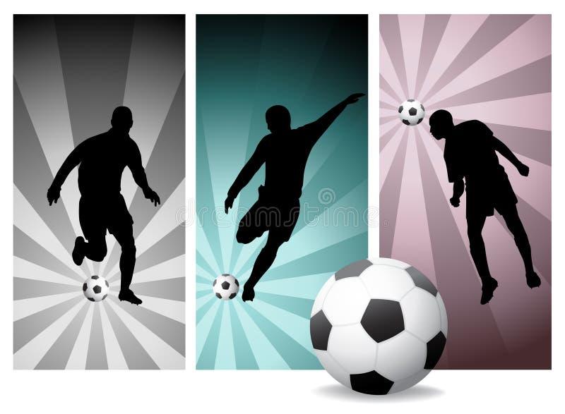 2 graczów piłki nożnej wektor ilustracji
