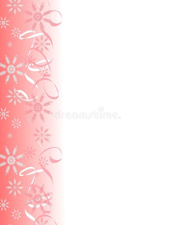 2 graniczny wstążek płatek śniegu royalty ilustracja