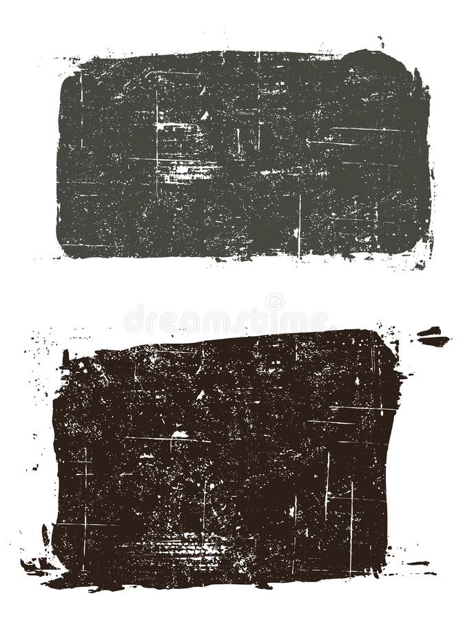 2 Grunged Quadrate 2 lizenzfreie abbildung