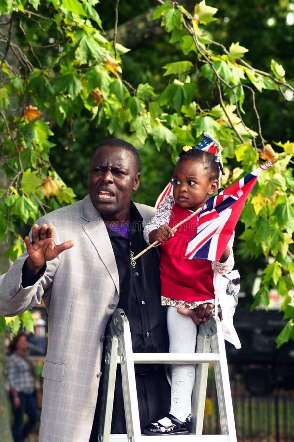 2 hörnHyde Park preachers royaltyfria bilder