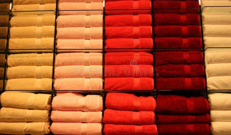 2 handdukar arkivbilder