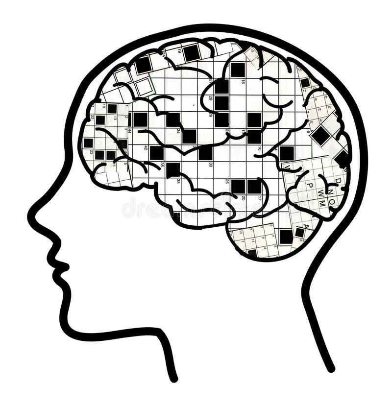 2 hjärncollagekorsord vektor illustrationer