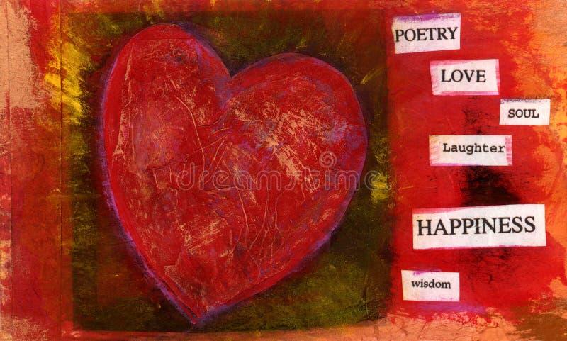 2 hjärtating vektor illustrationer