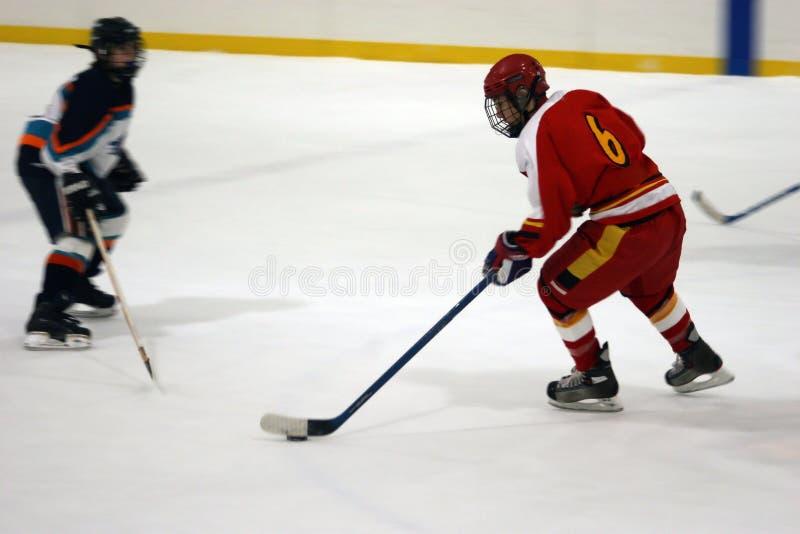 2 hokeja plam lodu zdjęcie stock