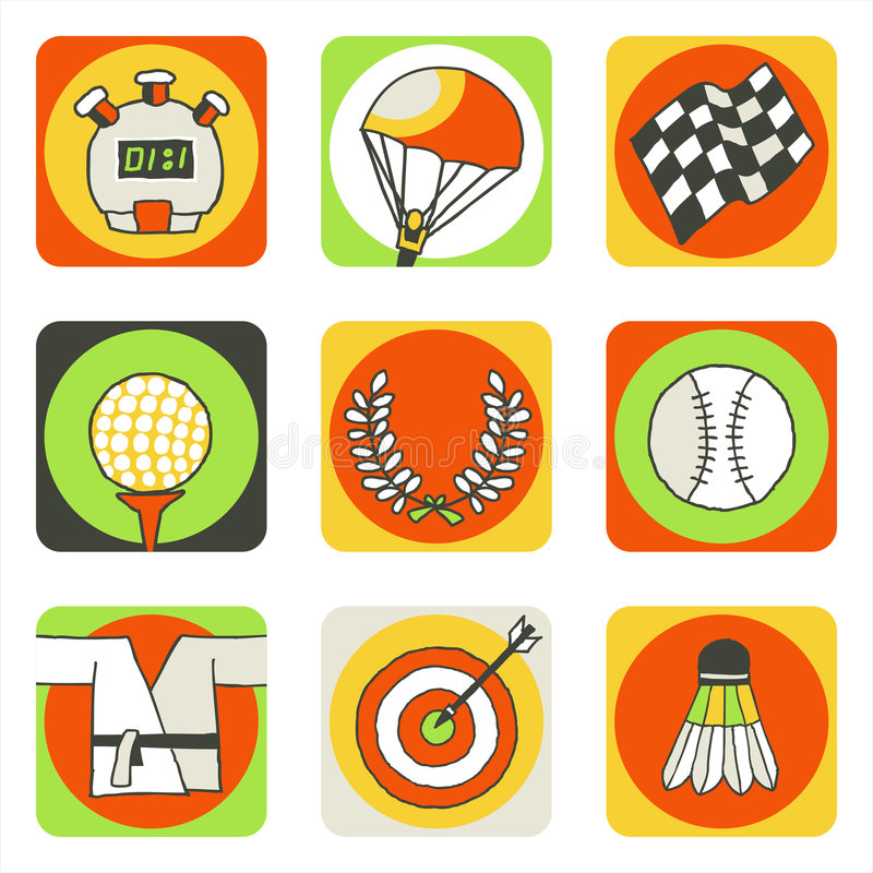 2 icons sports иллюстрация штока