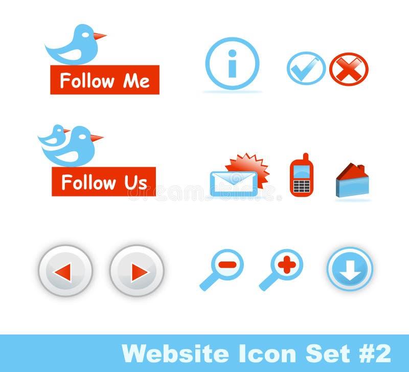 2 ikon część ustalona elegancka strona internetowa royalty ilustracja