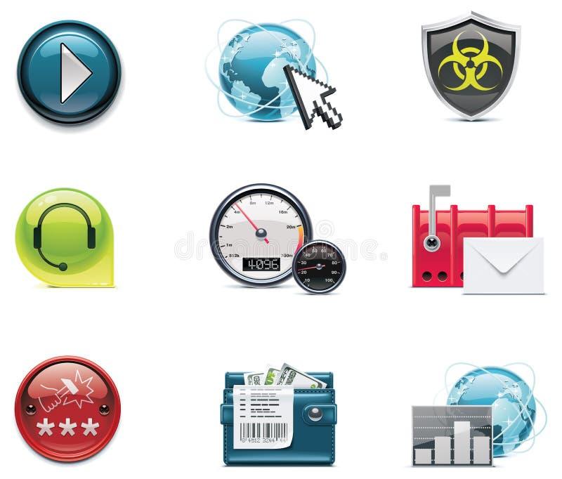 2 ikon internetów sieci część wektor
