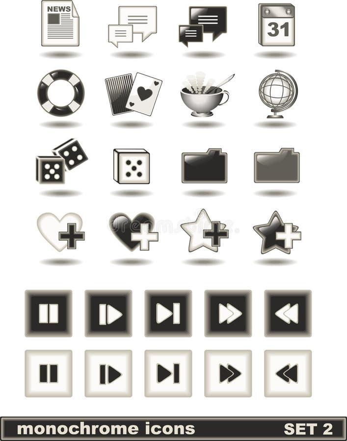 2 ikon monochromu set zdjęcie royalty free