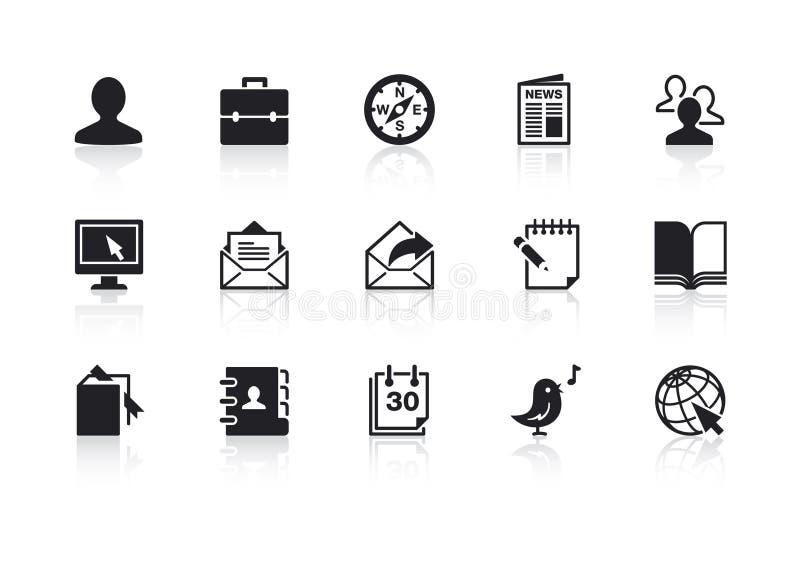2 ikon sieć royalty ilustracja