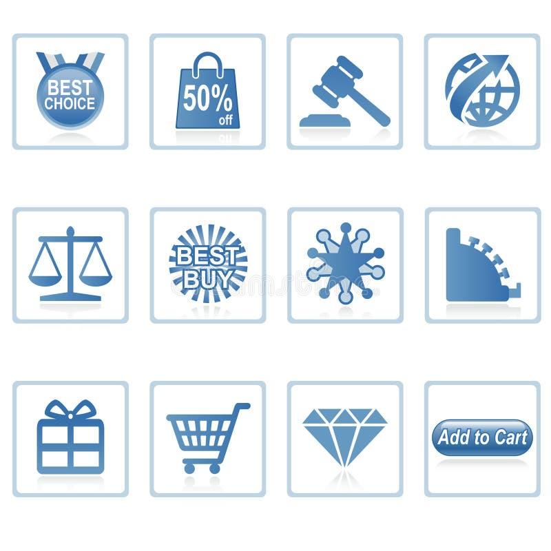 2 ikon zakupy online sieci ilustracja wektor
