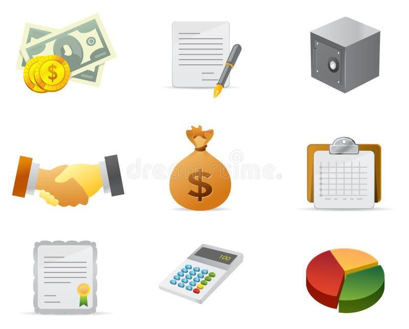 2 ikona finansowy pieniądze ilustracja wektor