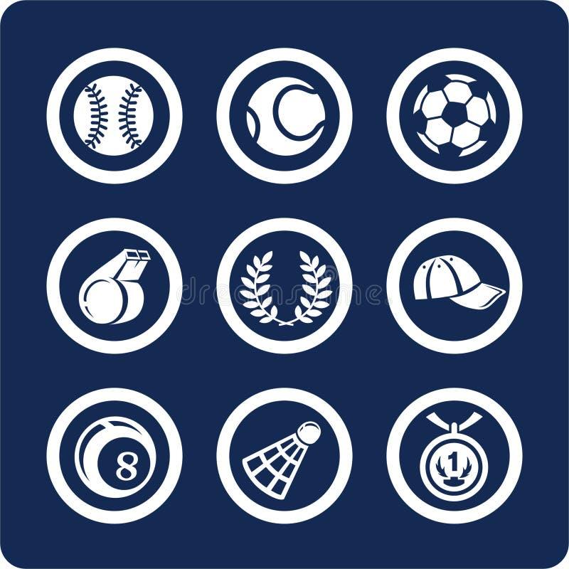 2 ikony 11 części sport ste ilustracja wektor
