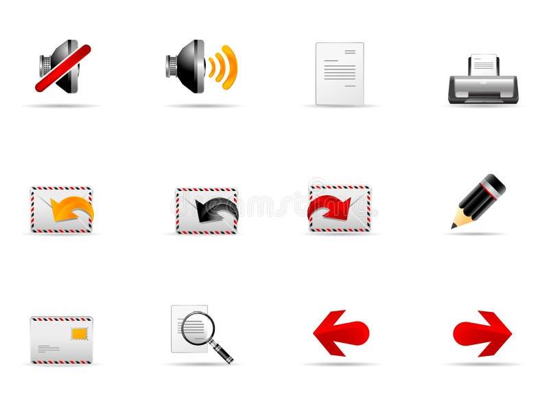 2 ikony internetów melo ustalona strona internetowa royalty ilustracja